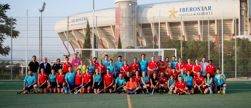 Integrantes de Menorca HC y Mallorca HC, que ya se enfrentaron en Palma.