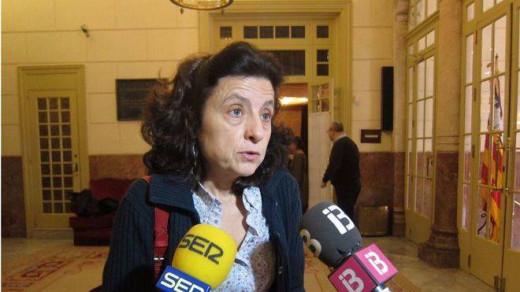 La consellera de Servicios Sociales y Cooperación, Fina Santiago.