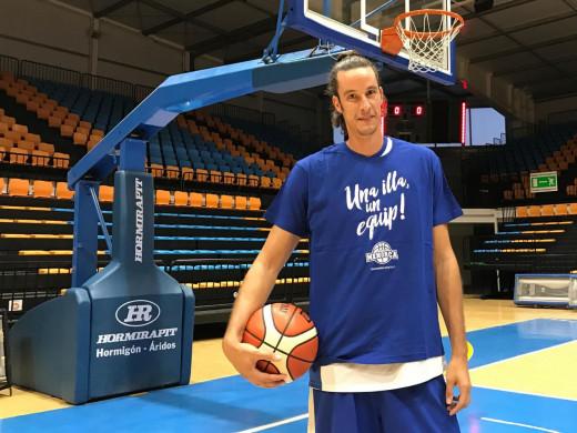Andreu Matalí, en el Pavelló Menorca (Foto: Bàsquet Menorca)