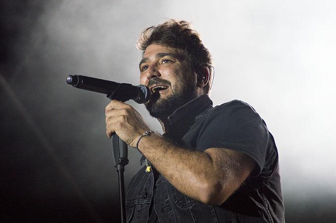 Antonio Orozco, durante un concierto.
