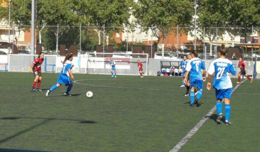 Secuencia del partido disputado en Pallejà (Foto: @cfpallejafem)