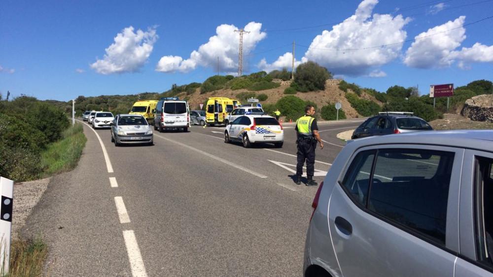 Imagen del lugar de la colisión (Foto: Tolo Mercadal)
