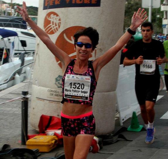Maria Pallicer, ganadora en féminas (Foto: deportesmenorca.com)