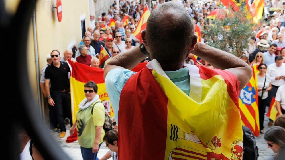 Un momento de la concentración en Maó (Fotos: Tolo Mercadal)