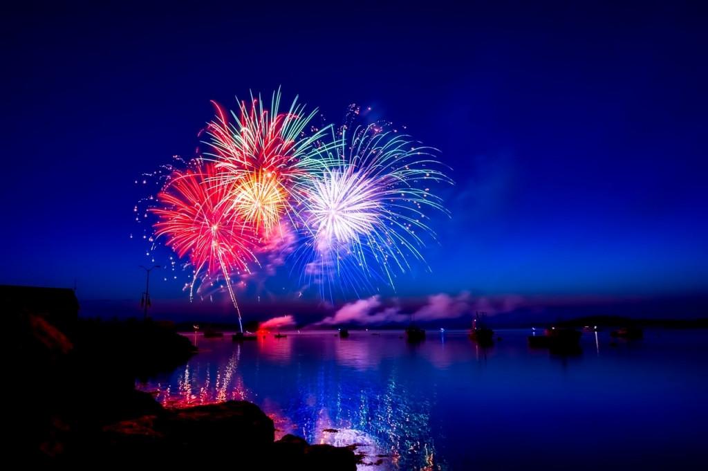 Este año, en lugar de dos, sólo hubo un castillo de fuegos en las fiestas de Maó