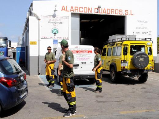 (Fotos) Grúas Alarcón logra salvar la nave y su maquinaria pesada