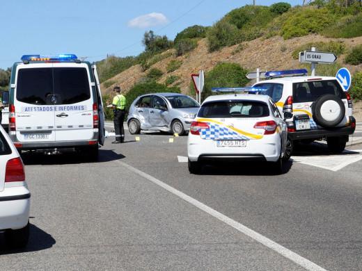 (Fotos) Un accidente siega la vida de un joven de 28 años en Maó