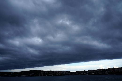 Cielo tapado en la Isla (Foto: Ferrán Herrera)
