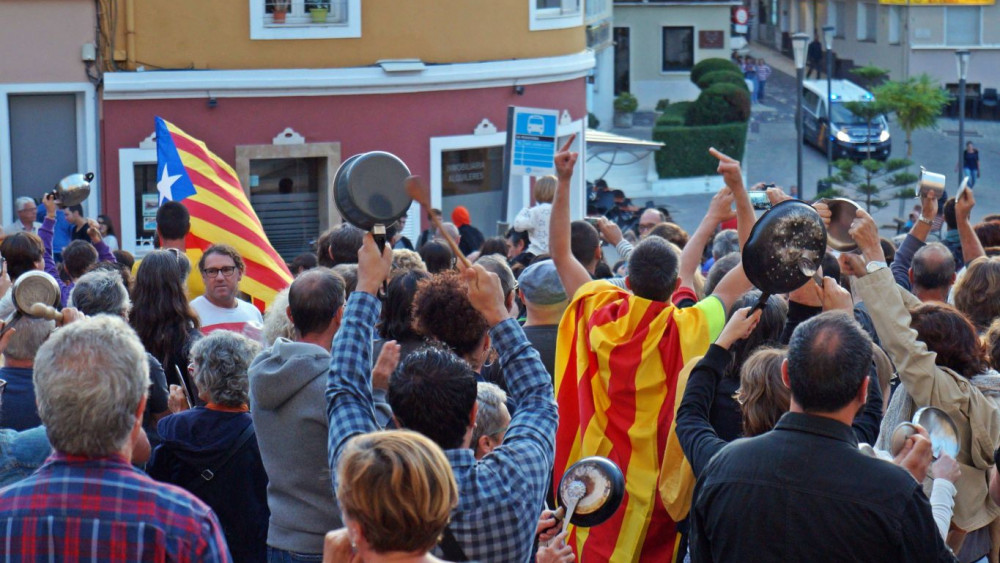 Un momento de la concentración (Fotos: Ferrán Herrera)