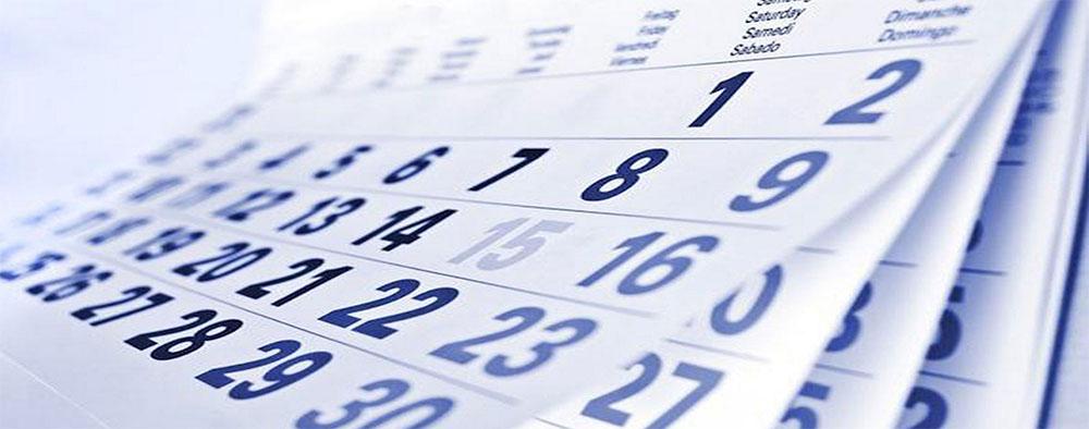 Imagen de un calendario.