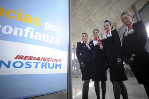 Tripulación de cabina de pasajeros de Air Nostrum.