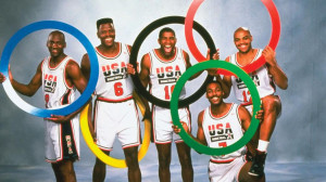 Jordan, Ewing, Johnson, Barkley (arriba) y Karl Malone.