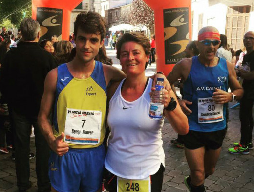 Reurer, con la alcaldesa de Sant Lluís Monse Morlà, en Porreres.