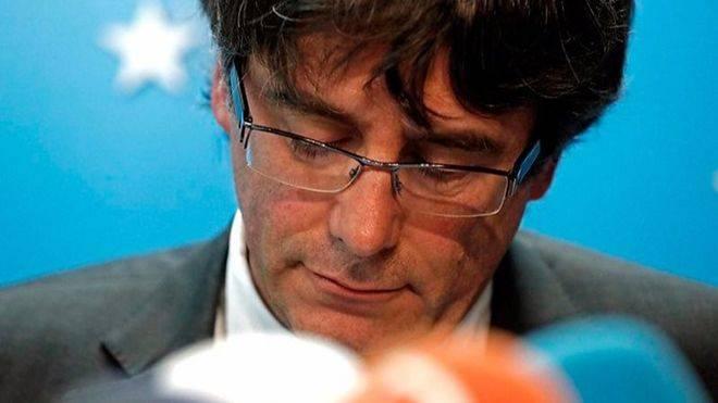 Carles Puigdemont, el martes en rueda de prensa.