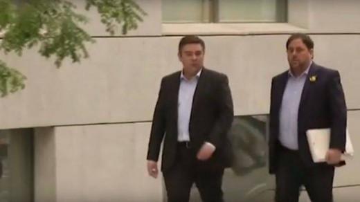 Oriol Junqueras a su llegada a la Audiencia Nacional.