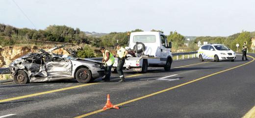 Accidente en la carretera general