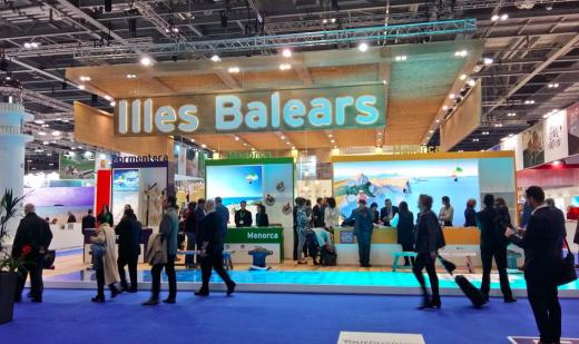 El estand de las Illes Balears  en la WTM de Londres.