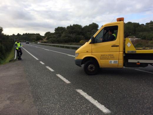 (Fotos) Un herido en un accidente en la carretera general