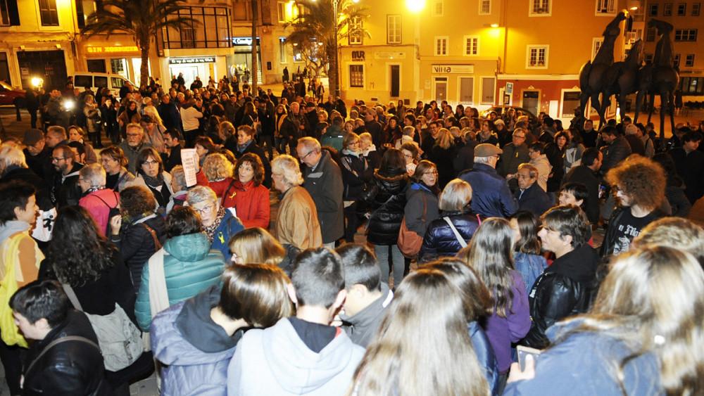 Una imagen de la concentración (Fotos: Tolo Mercadal)