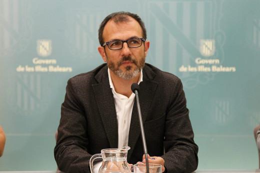 Biel Barceló. en rueda de prensa.