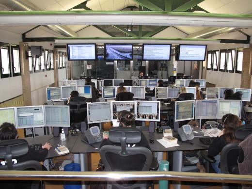 Centro de control de llamadas del 112.