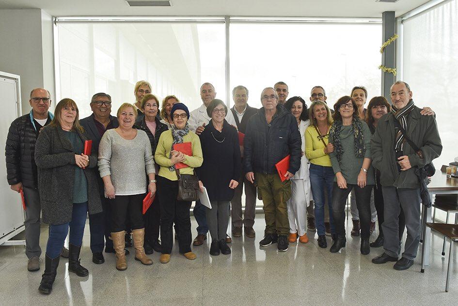 Imagen del homenaje en el Mateu Orfila (Foto: Àrea de Salut de Menorca)