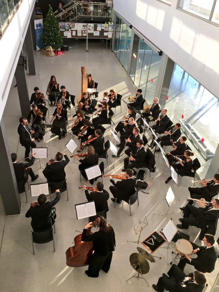 Momento del recital (Foto: Àrea de Salut de Menorca)