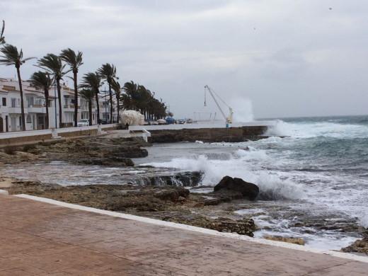 Imagen del mal tiempo en s'Algar (Foto y vídeos: Tolo Mercadal)