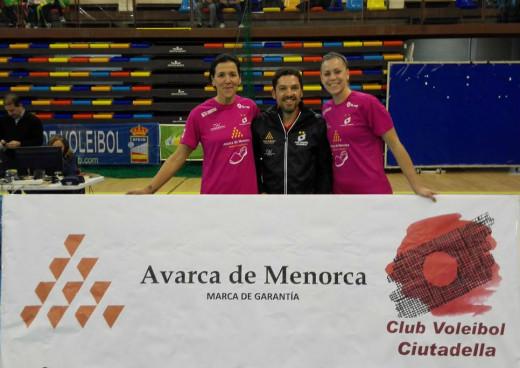 Noelia Sánchez, Bep Llorens y Daysa Delgado, en el All Star (Foto: RFEVB)