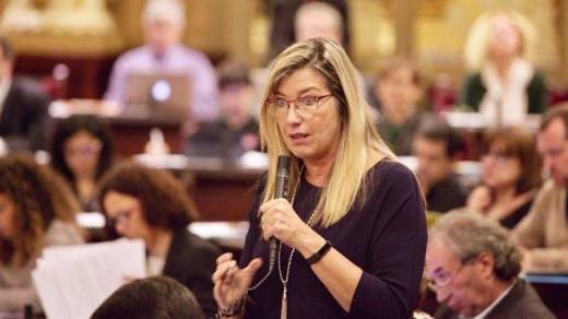 Patricia Gómez, en una intervención en el Parlament.