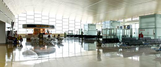 Terminal de salidas del aeropuerto.