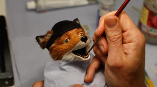 El Sr. Fox en maquillaje