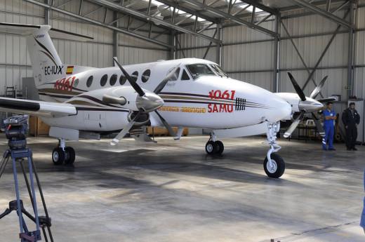 Avión ambulancia con base en Maó.