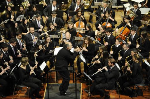 """La """"Banda de Música de Ferreries"""", en un concierto (Foto: Tolo Mercadal)"""