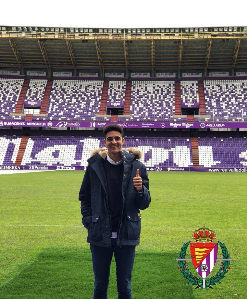 Chris, el día de su presentación en Valladolid.