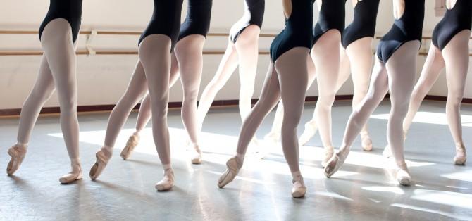 Clase de ballet.
