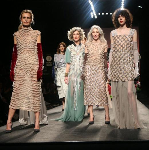 Modelos con los complementos de Marybola, ayer en la Pasarela Cibeles (Foto: Fashion Week Madrid)