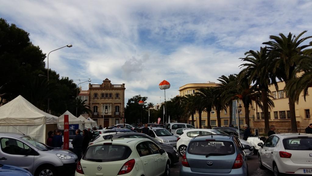 Feria del automóvil en Ciutadella.