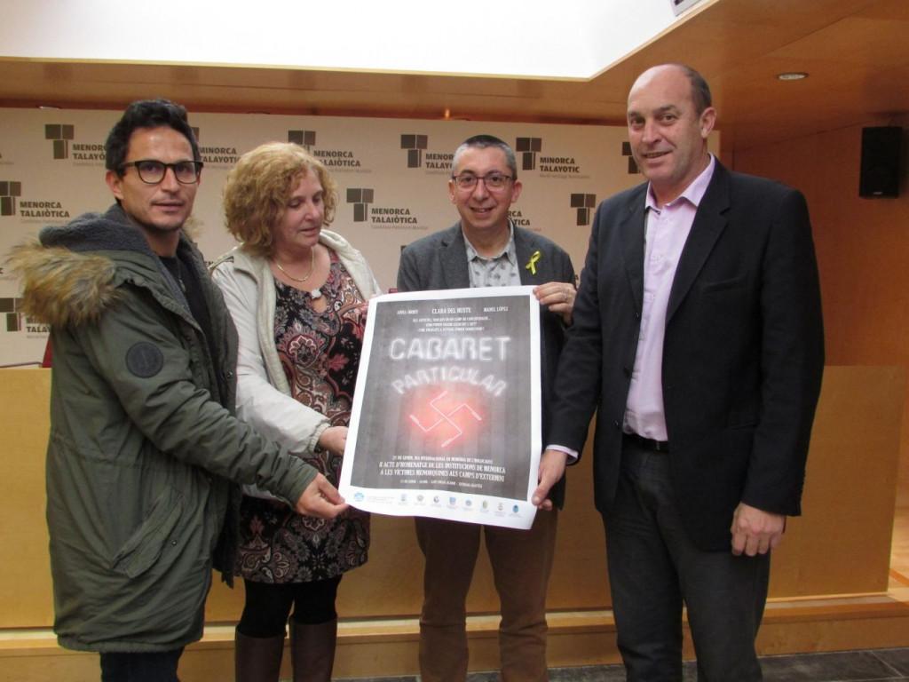 Imagen de la presentación del acto en el Consell Insular de Menorca.