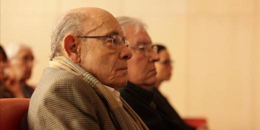Félix Millet durante el juicio esta mañana.