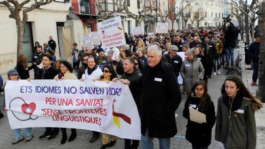 Manifestación de la plataforma en Maó.
