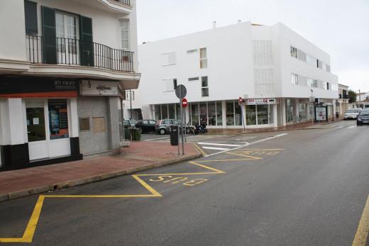 Imagen de la nueva ubicación de la parada (Foto: Ajuntament Sant Lluís)