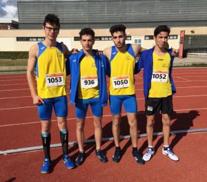 Medallistas de Lô Esport del 4x60.