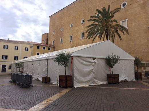 En Maó no se ha podido celebrar el encuentro de escolares en el centro de la ciudad (Foto: Tolo Mercadal)