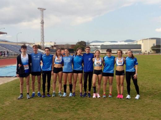 Foto de familia del equipo Cecome Menorca Atletisme (Fotos: Andrés Pulido)