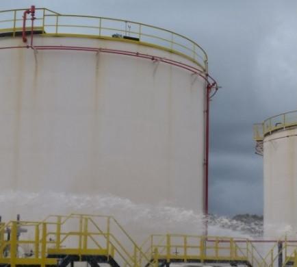 (Fotos) Emergencia en los depósitos de CLH