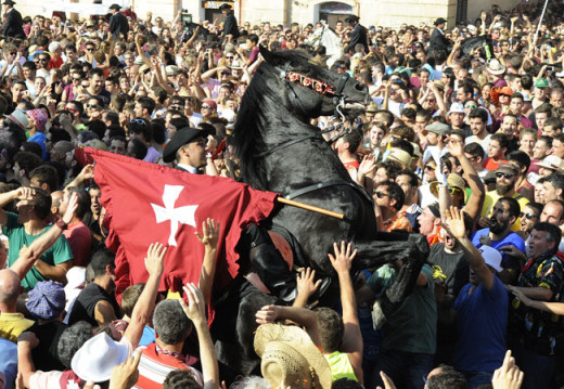 Imagen de archivo de las fiestas de Sant Joan.