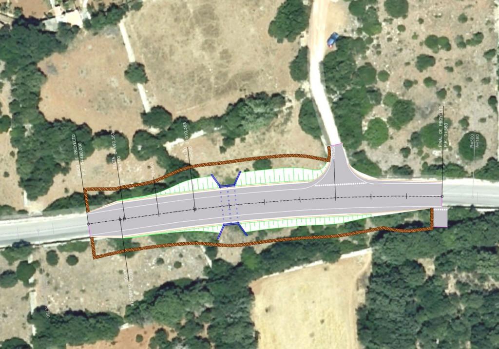 Imagen de la zona de la carretera de Biniancolla que se pretende arreglar para mejorar la seguridad.