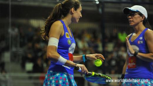 Gemma Triay, en un momento del partido (Foto: World Padel Tour)