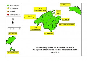 Gráfica de sequía elaborada por el Govern balear.